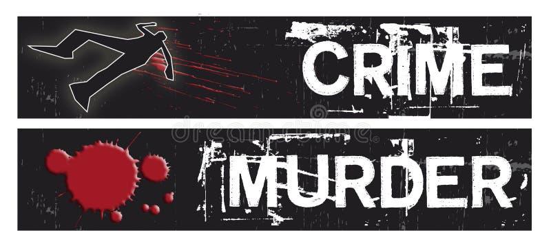 Bandeiras do crime ilustração stock