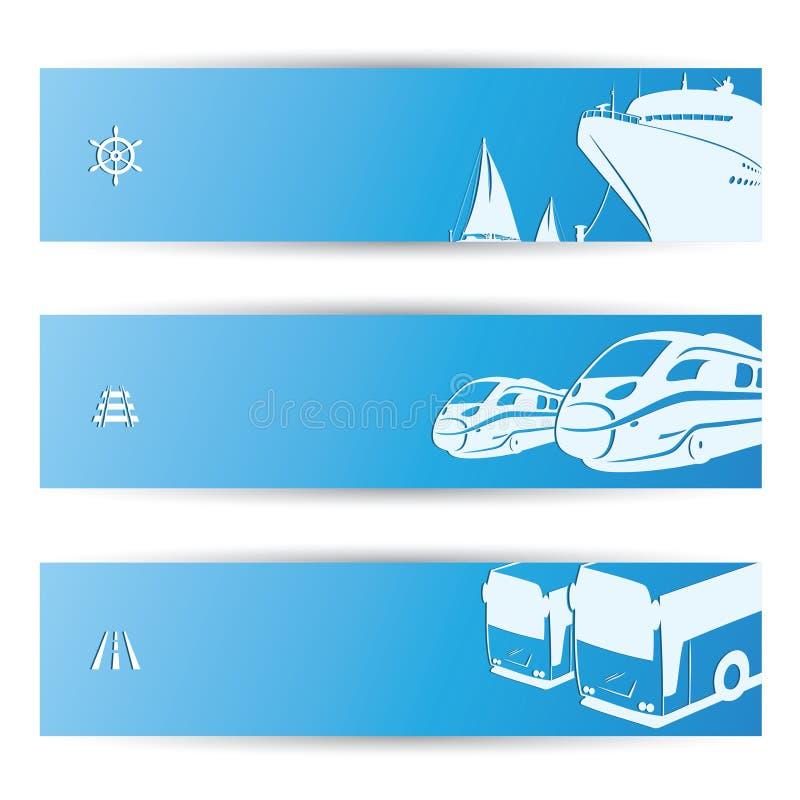Bandeiras do curso ilustração do vetor
