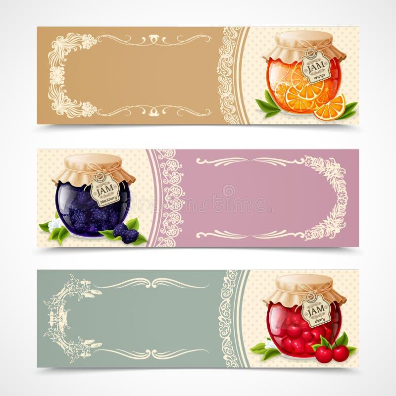 Bandeiras do doce ajustadas ilustração stock