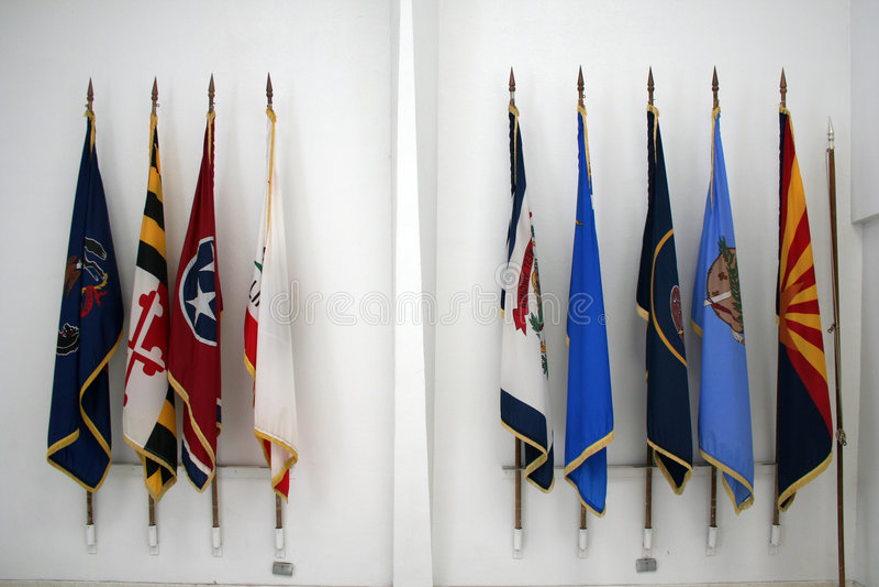 Bandeiras do estado imagens de stock