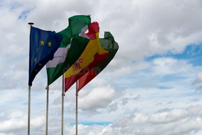 Bandeiras do eu, a Andaluzia, spain, granada imagem de stock royalty free