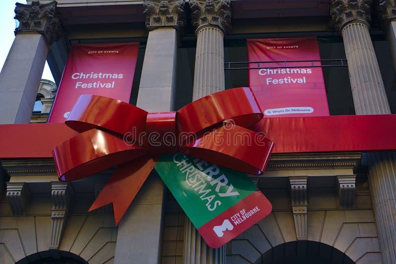 Bandeiras do festival e do Feliz Natal do Natal fotografia de stock