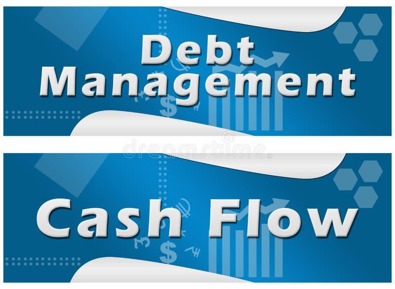 Bandeiras do fluxo de caixa da gestão de dívidas ilustração stock