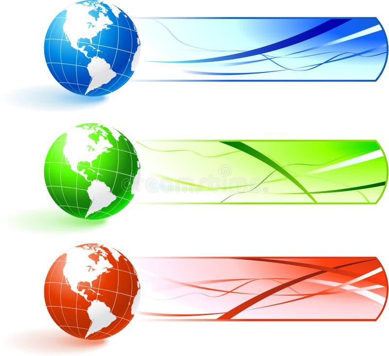 Bandeiras do globo ilustração stock