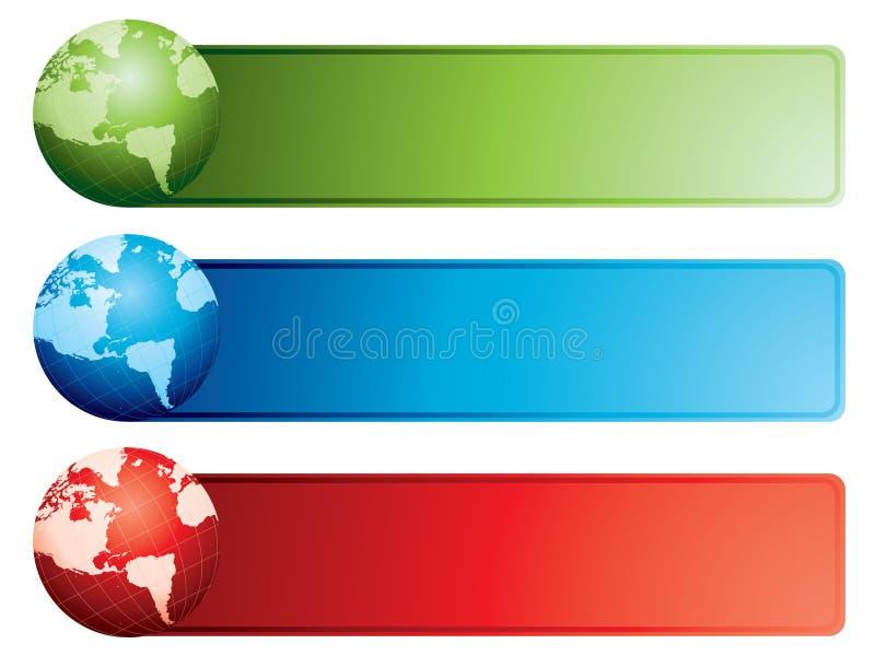 Bandeiras do globo ilustração royalty free