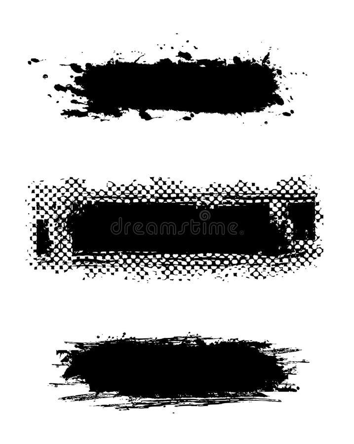 Bandeiras do grunge da coleção ilustração stock