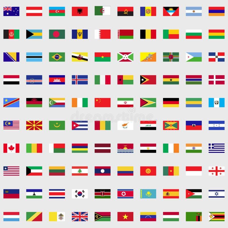 Bandeiras do grupo do mundo ilustração do vetor