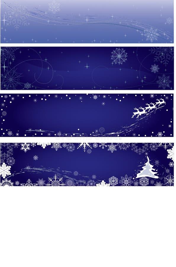 Bandeiras do inverno fotos de stock