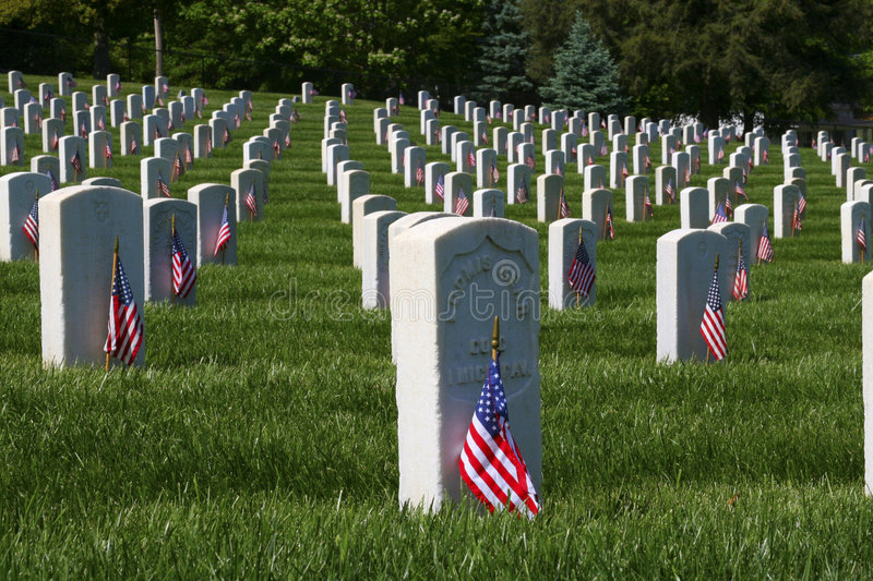 Bandeiras do Memorial Day imagem de stock