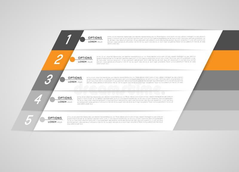 Bandeiras do molde de Infographic ilustração royalty free