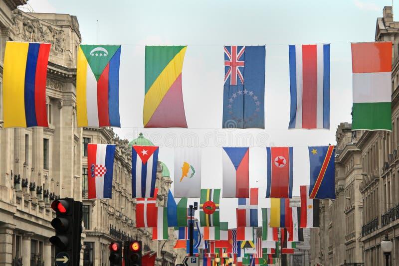 Bandeiras do mundo foto de stock