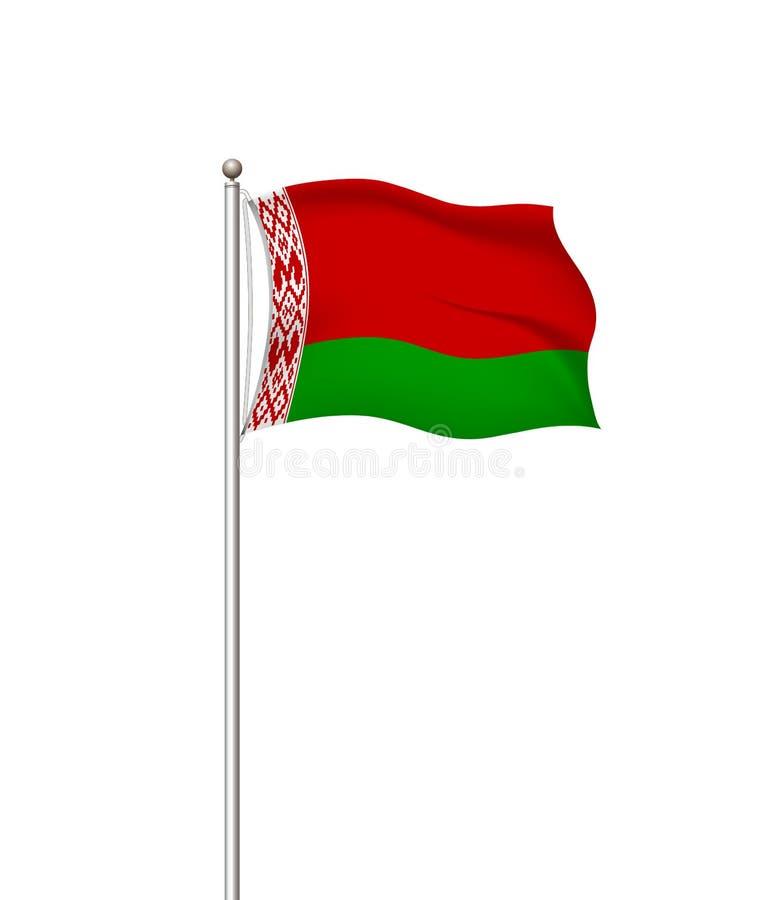 Bandeiras do mundo Fundo transparente do cargo da bandeira nacional do país belarus Ilustra??o do vetor ilustração royalty free