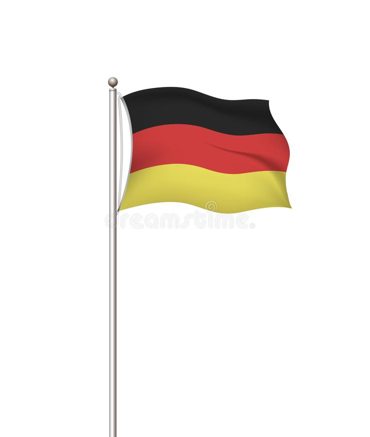 Bandeiras do mundo Fundo transparente do cargo da bandeira nacional do país germany Ilustra??o do vetor ilustração do vetor