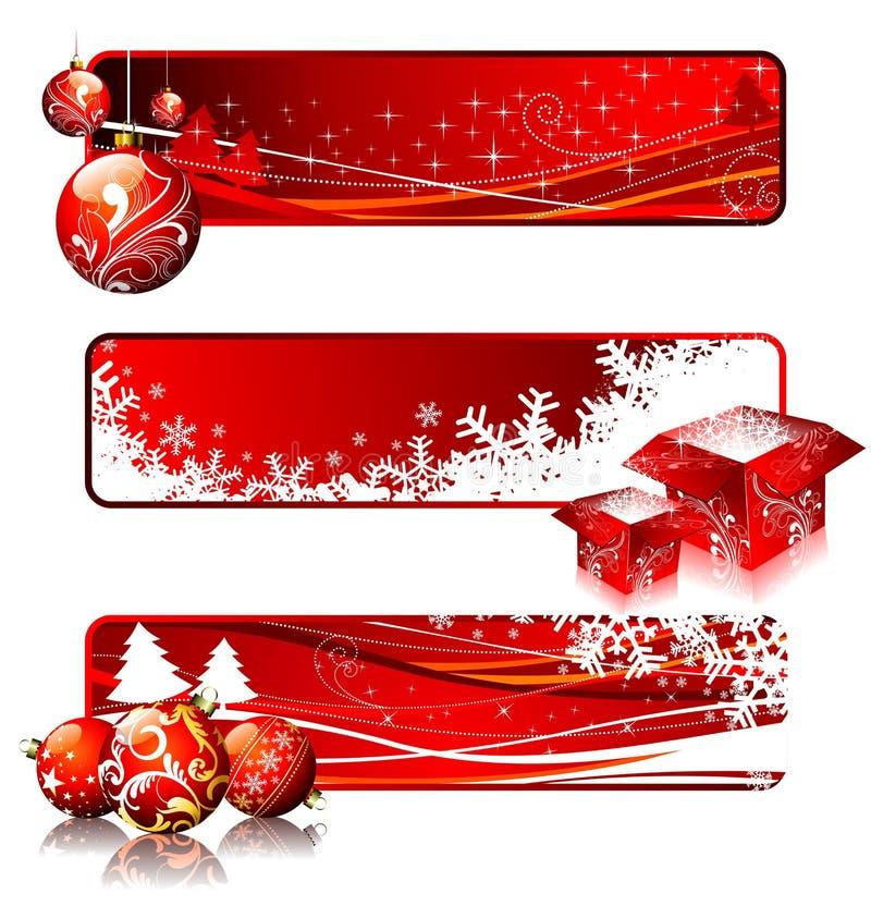 Bandeiras do Natal. ilustração do vetor