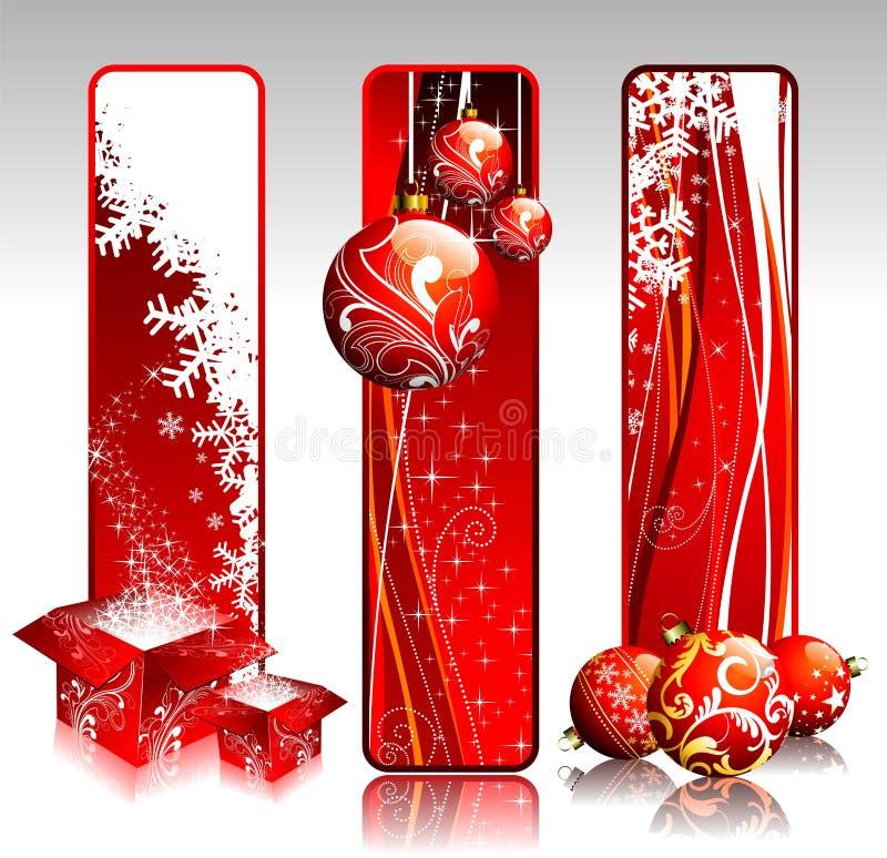 Bandeiras do Natal. ilustração royalty free