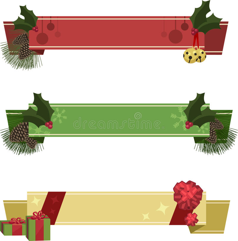 Bandeiras do Natal ilustração stock