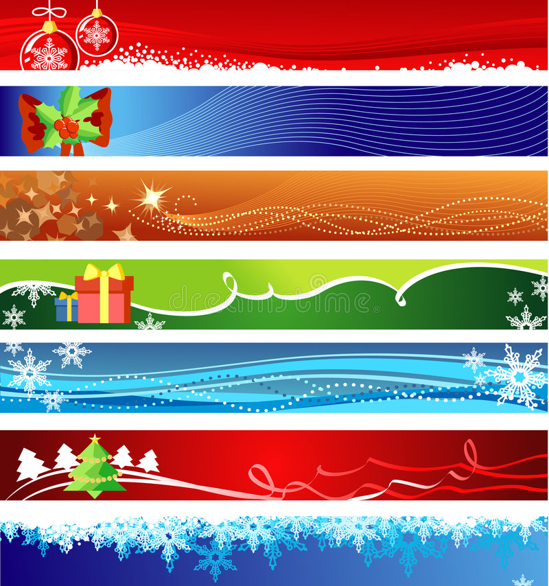Bandeiras do Natal com espaço para seu texto ilustração royalty free