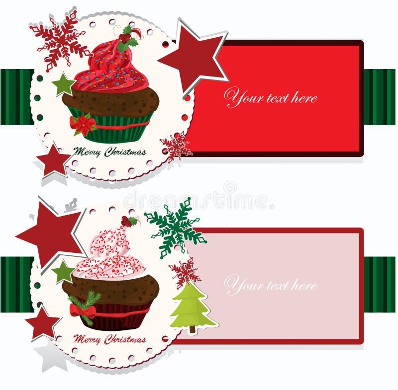 Download Bandeiras Do Natal Com Queque Ilustração do Vetor - Ilustração de cartão, creativo: 29841431