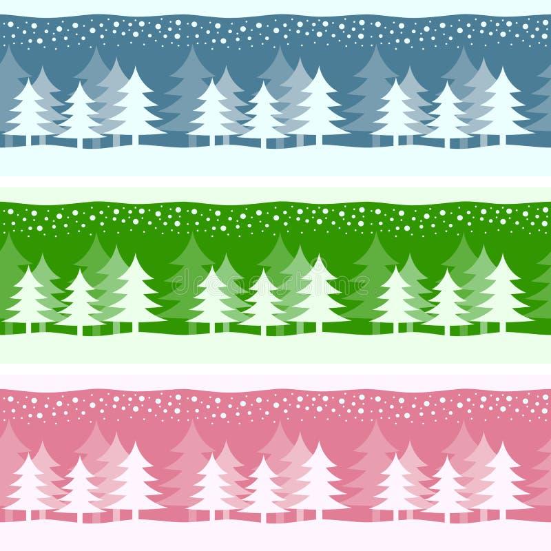 Bandeiras do Natal do inverno ilustração do vetor