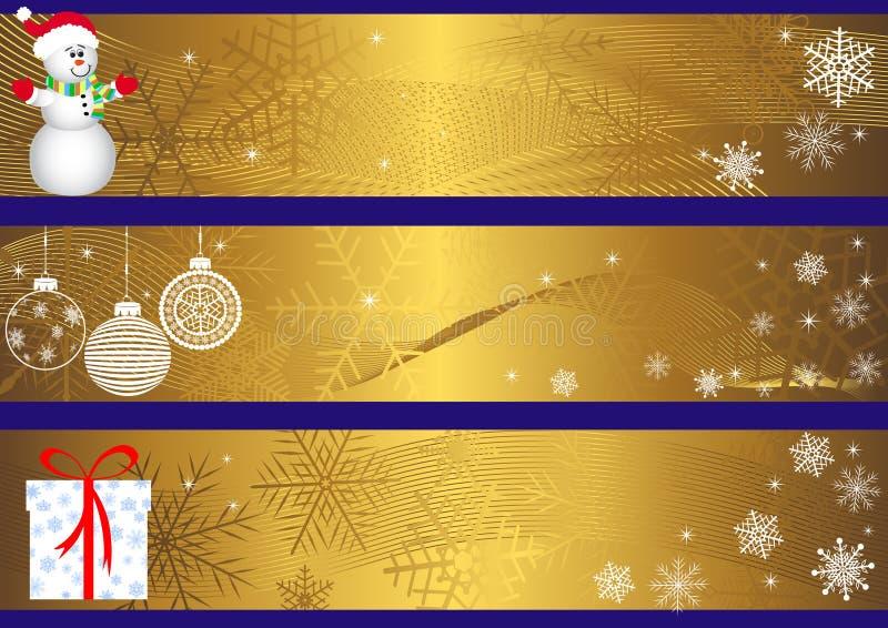 Bandeiras do Natal. vetor. ilustração stock