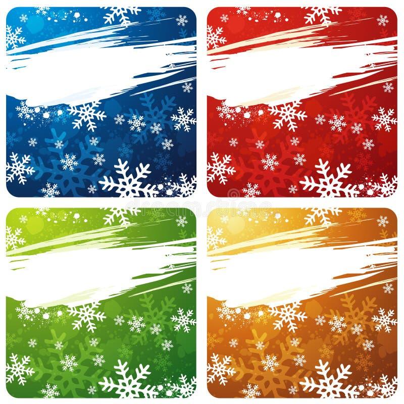 bandeiras do Natal, vetor ilustração royalty free