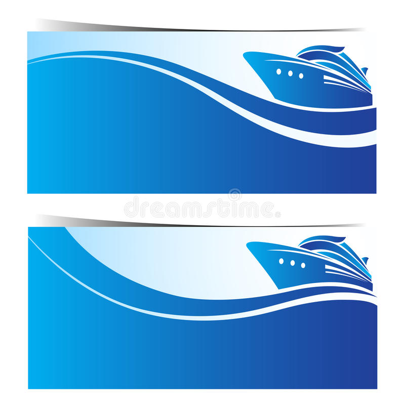 Bandeiras do navio de cruzeiros ilustração royalty free
