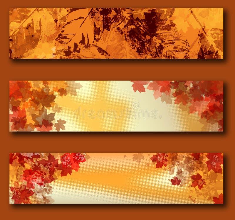 Bandeiras do outono ilustração royalty free