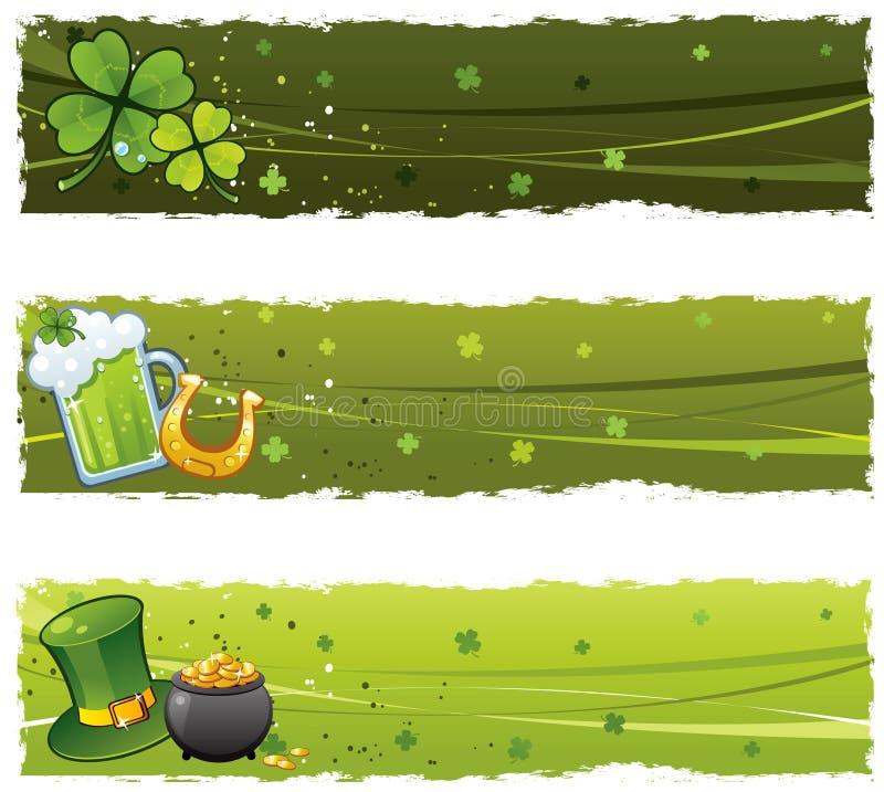 Bandeiras do St. Patrick ilustração do vetor