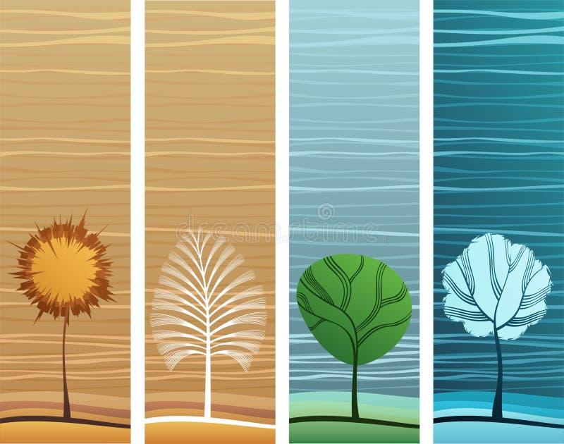 Bandeiras do tema da natureza ilustração royalty free