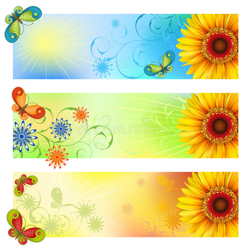 Bandeiras do verão ilustração stock