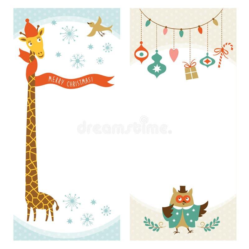 Bandeiras do vertical do Natal ou do ano novo ilustração do vetor