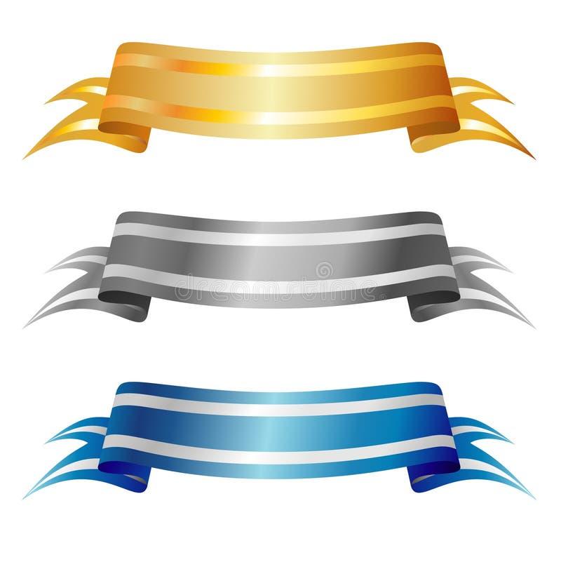 Bandeiras do vetor   ilustração stock