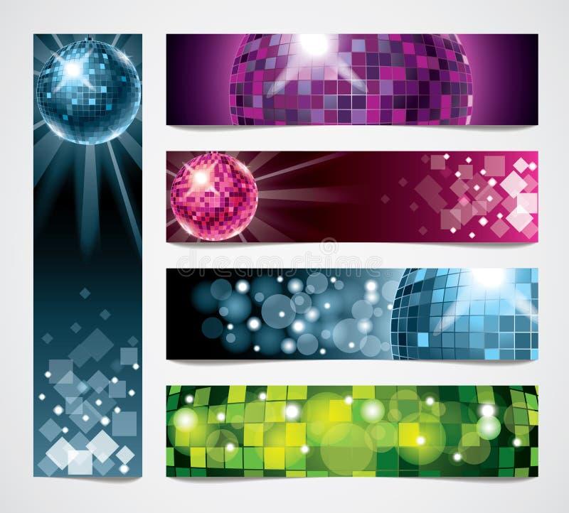Bandeiras do vetor do disco ajustadas ilustração do vetor