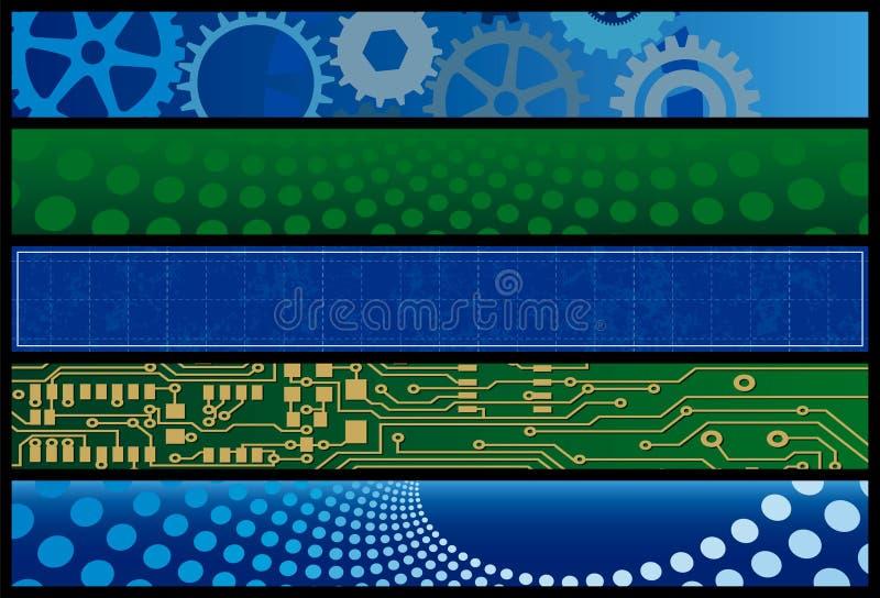 Bandeiras do Web da tecnologia ilustração royalty free