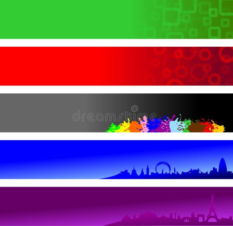 Bandeiras do Web site ilustração royalty free