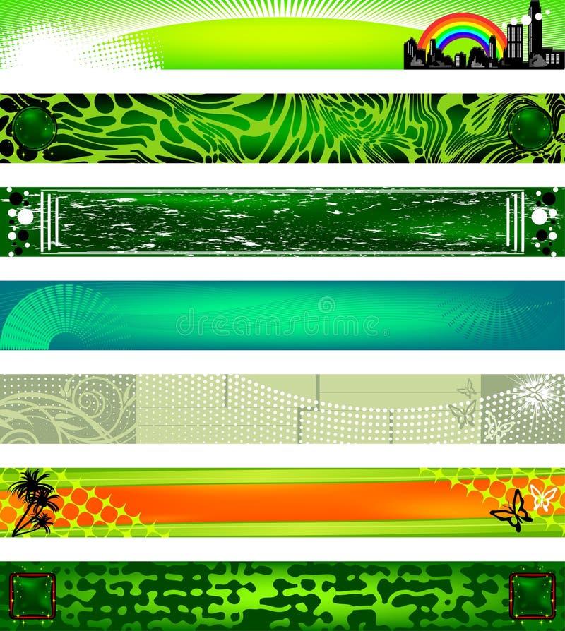 Bandeiras do Web site. tamanhos 730x90. ilustração stock