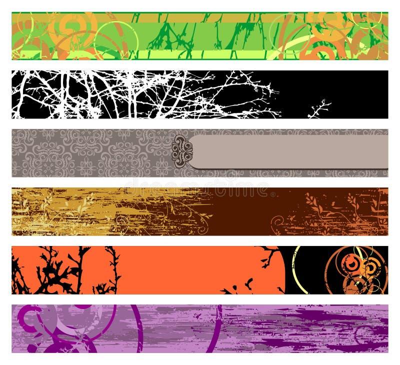 Bandeiras do Web site/vetor ilustração do vetor