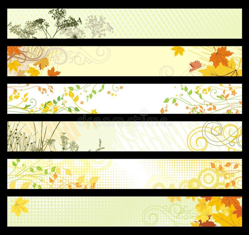 Bandeiras do Web site/vetor ilustração royalty free
