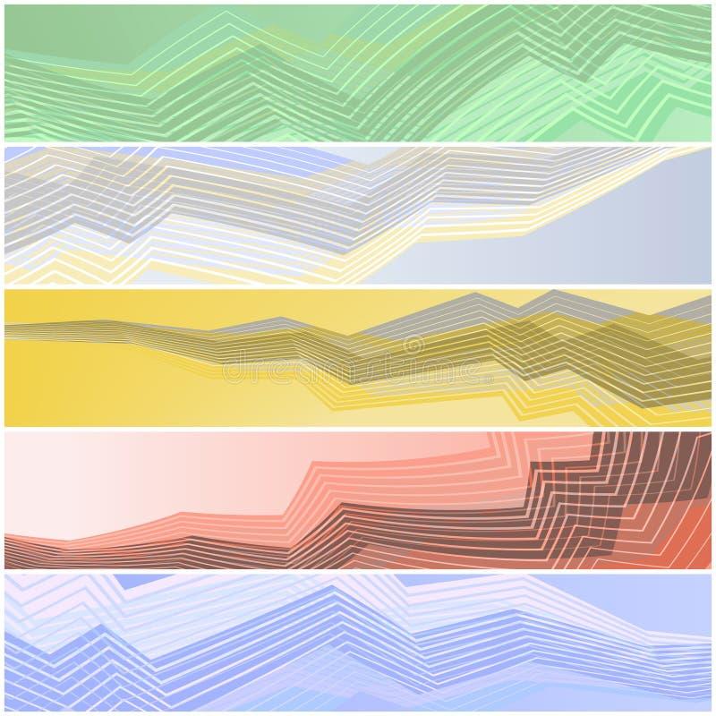 Bandeiras do ziguezague ilustração stock