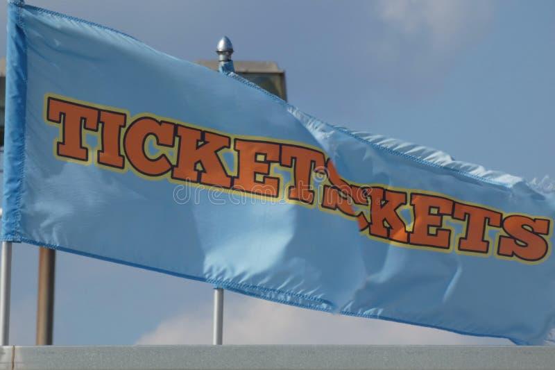 Bandeiras dos bilhetes foto de stock royalty free