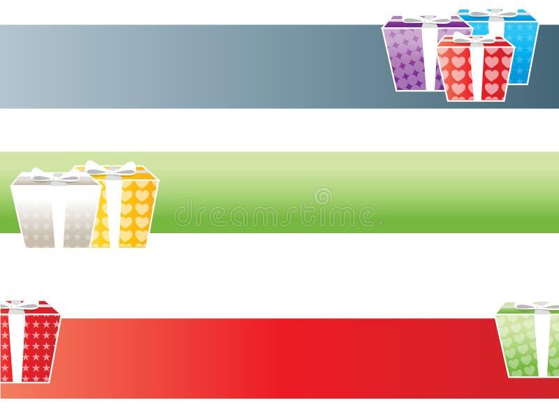 Bandeiras dos presentes ilustração stock
