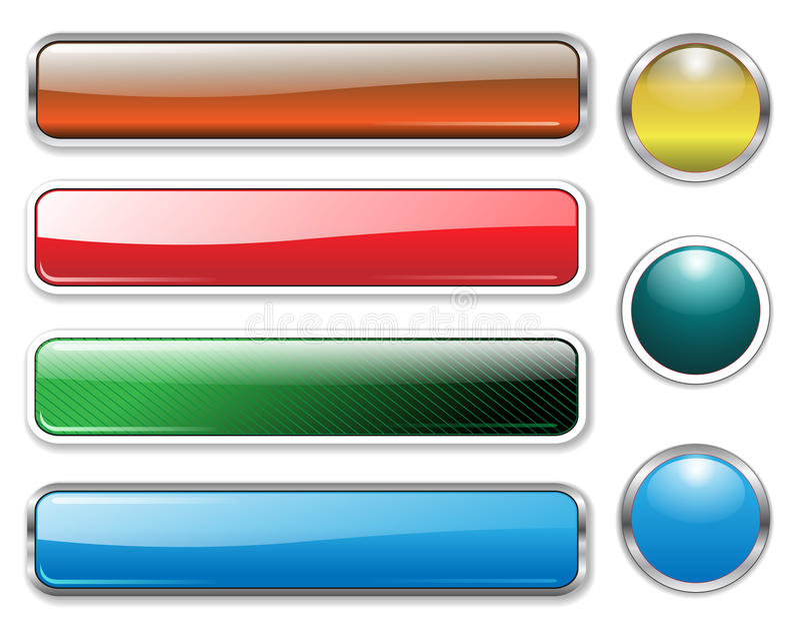 Bandeiras, encabeçamentos ajustados ilustração do vetor