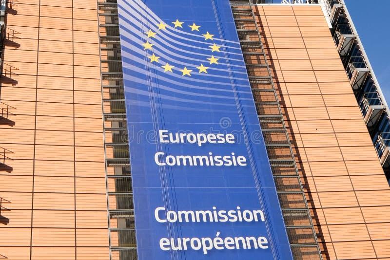 Bandeiras européias em Bruxelas imagem de stock royalty free