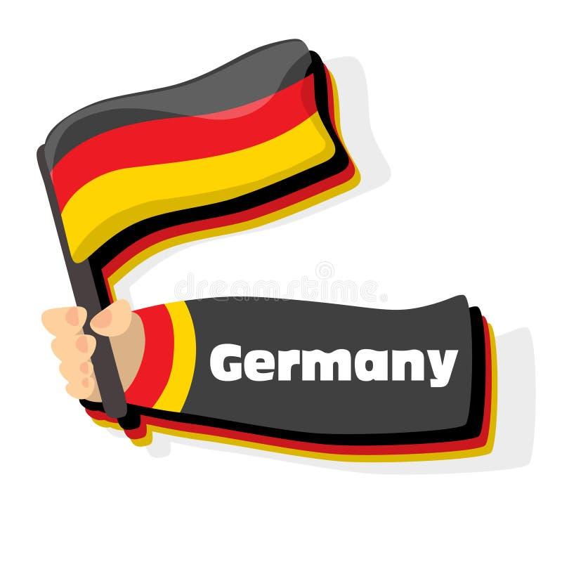 Bandeiras europeias do curso ilustração royalty free