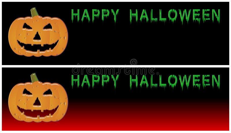Bandeiras felizes de Halloween ilustração stock
