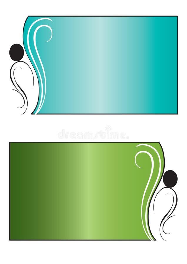 Bandeiras florais 1 - vetor ilustração do vetor