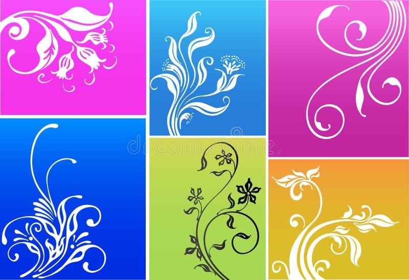 Bandeiras florais da decoração ilustração stock