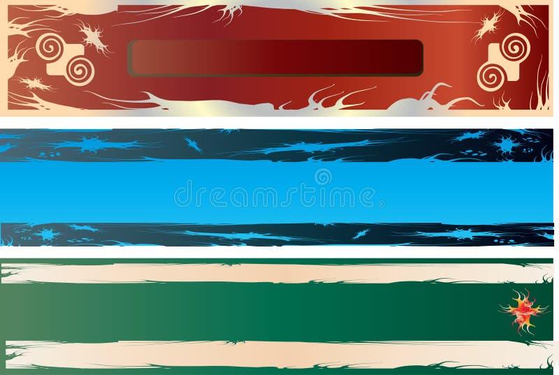 Bandeiras genéricas de Grunge ilustração do vetor