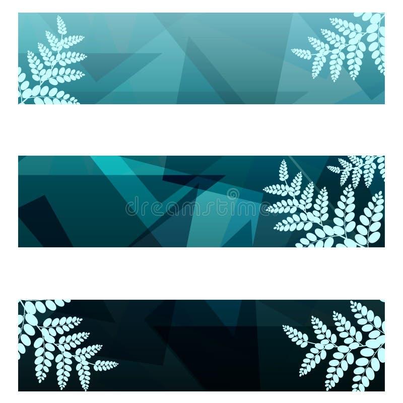 Bandeiras geométricas da folha ilustração royalty free