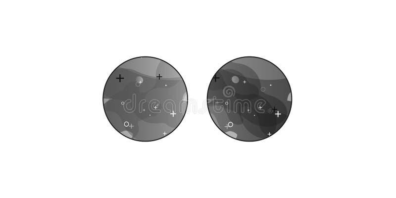 Bandeiras geométricas do inclinação preto com formas líquidas do fluxo Projeto fluido din?mico para o logotipo, os insetos ou o p ilustração stock
